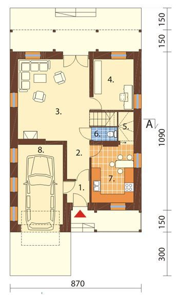 Casas de 200 metros cuadrados en dos pisos planos de for Casas modernas 120 metros cuadrados