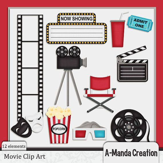 Movie themed commerical use clip art lights camera action movie themed commerical use clip art freerunsca Choice Image
