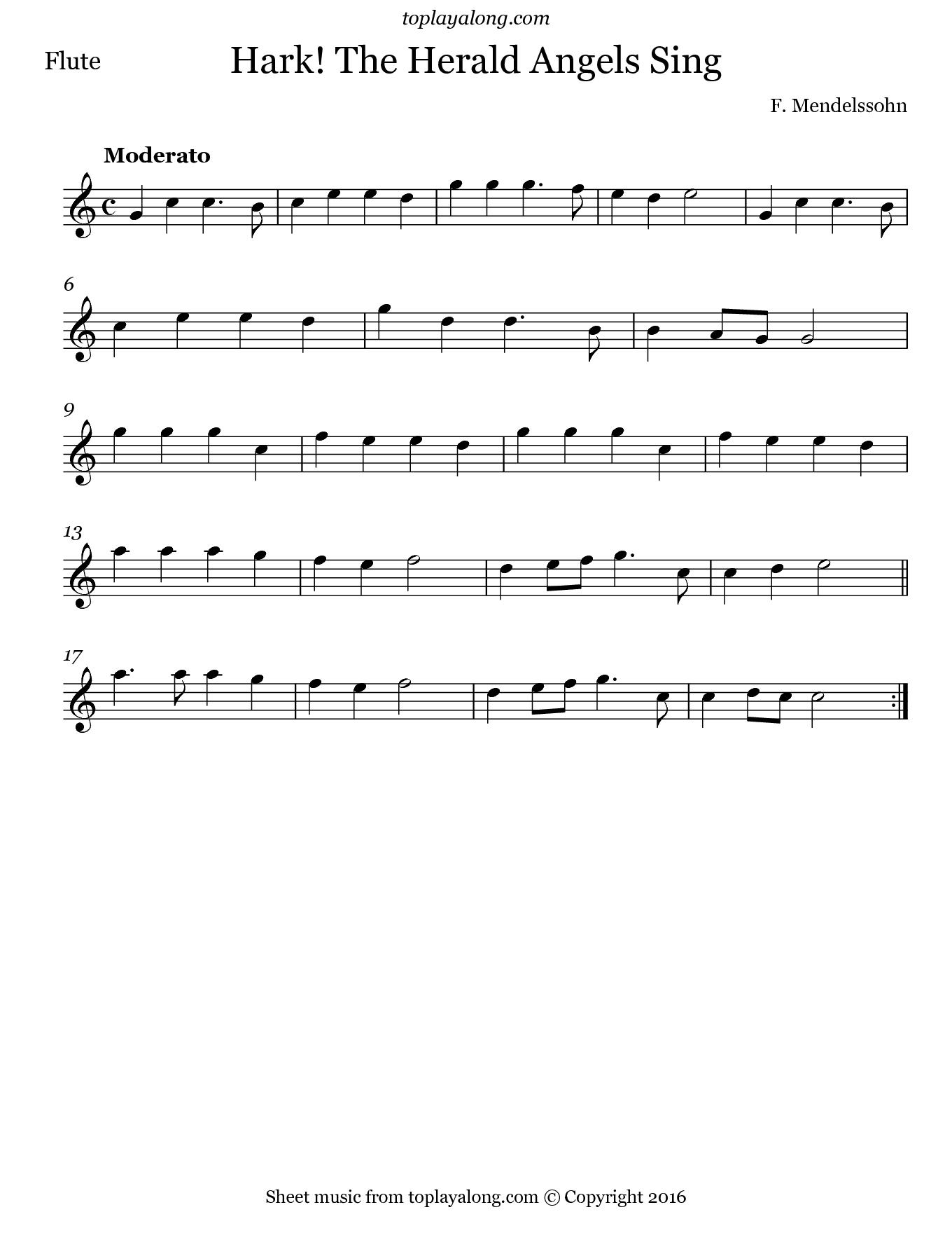 Hark The Herald Angels Sing By Mendelssohn Free Sheet