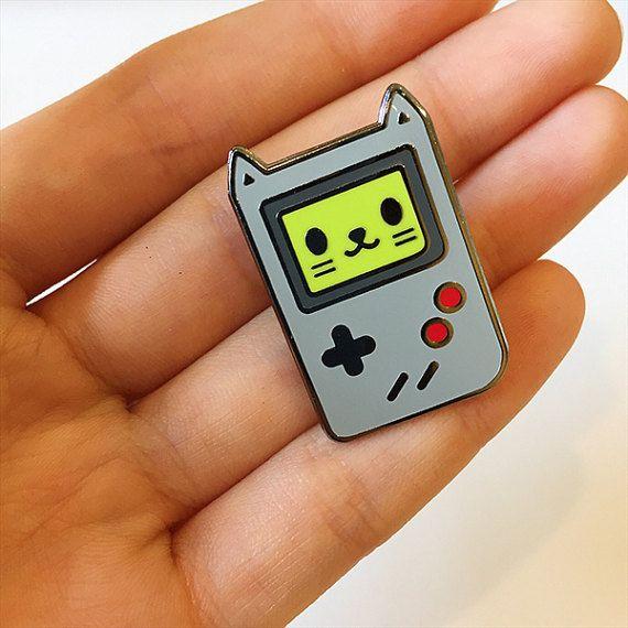 delightful Terestpin Part - 13: Gato del juego esmalte duro Pin Pin de Video juego por InkyDiary