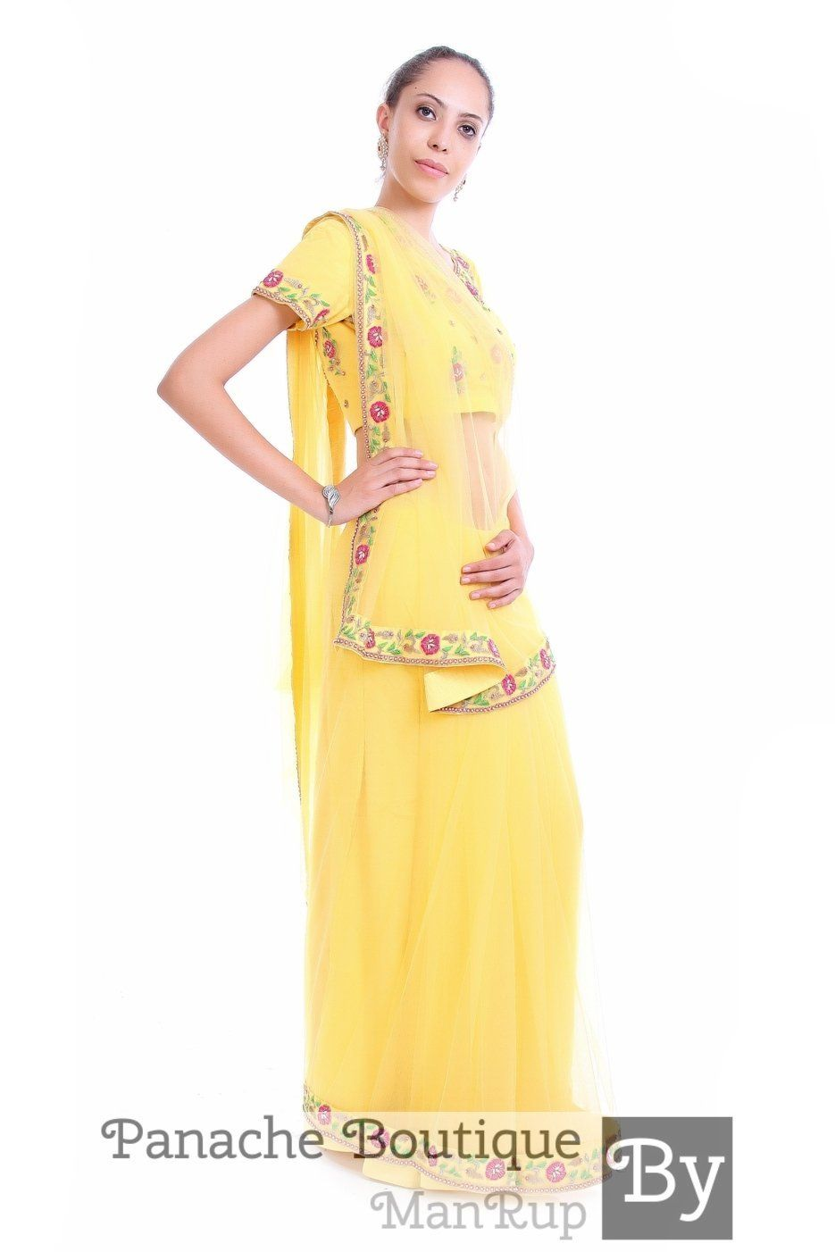 Yellow colour saree images yellow colour net saree with hand embroidery  products  pinterest