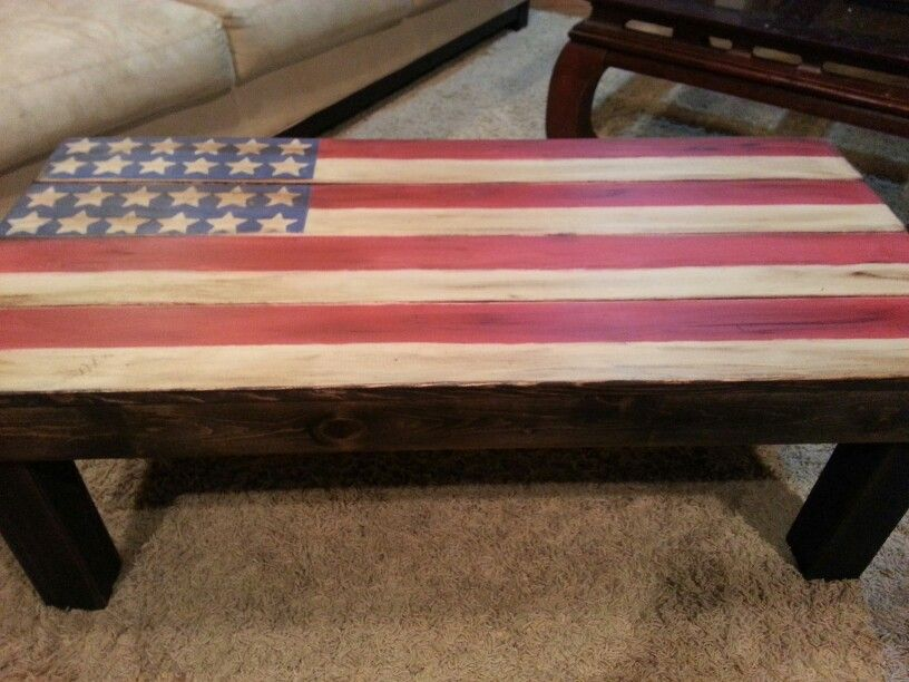 American Flag Coffee Table $150.00
