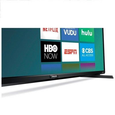 Philips 50 4k Uhd Roku Tv With Hdr 10 50pfl4864 Black