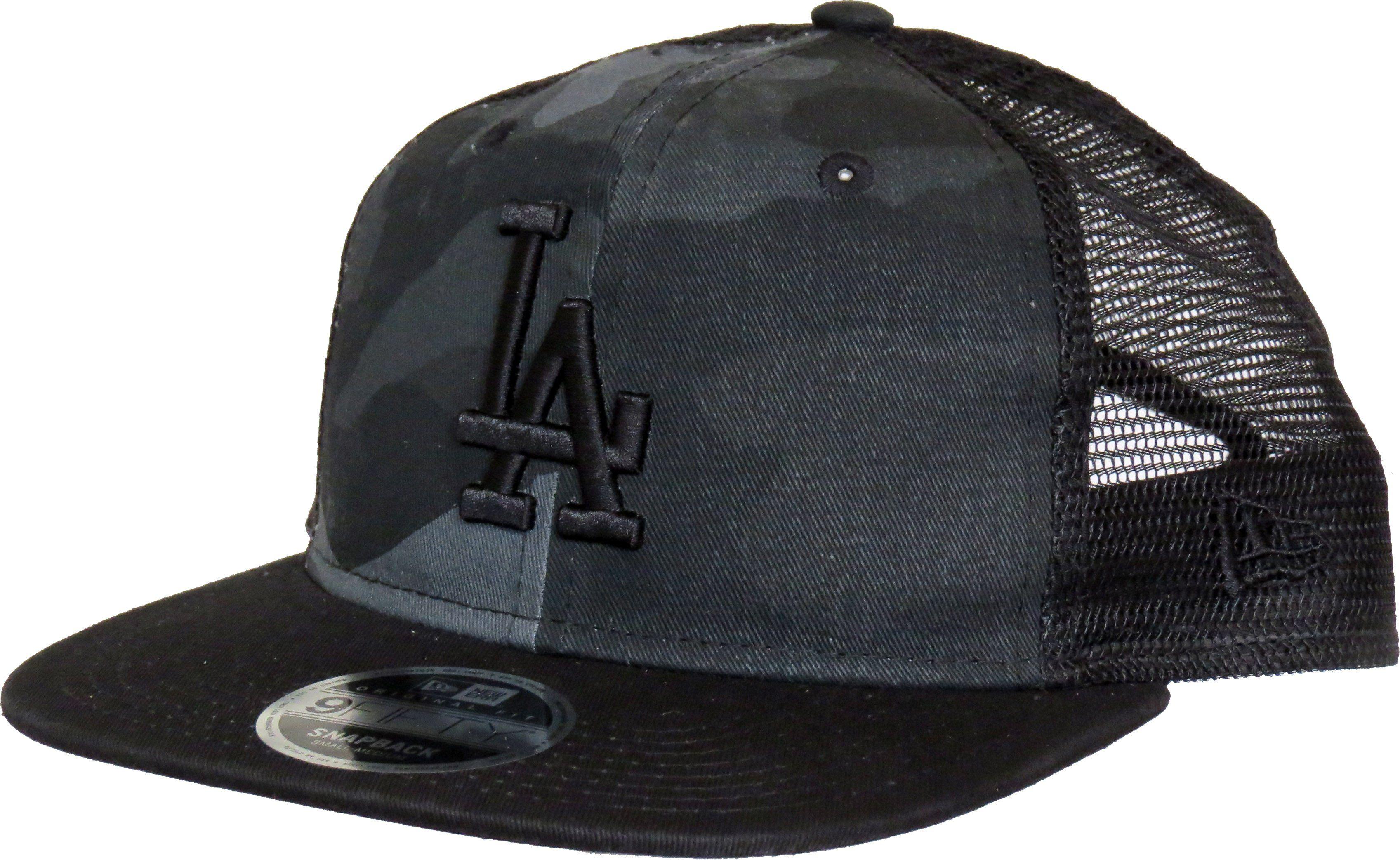La Dodgers New Era 950 Washed Camo Snapback Cap Gift Box Lovemycap La Dodgers Snapback Cap Black Visor