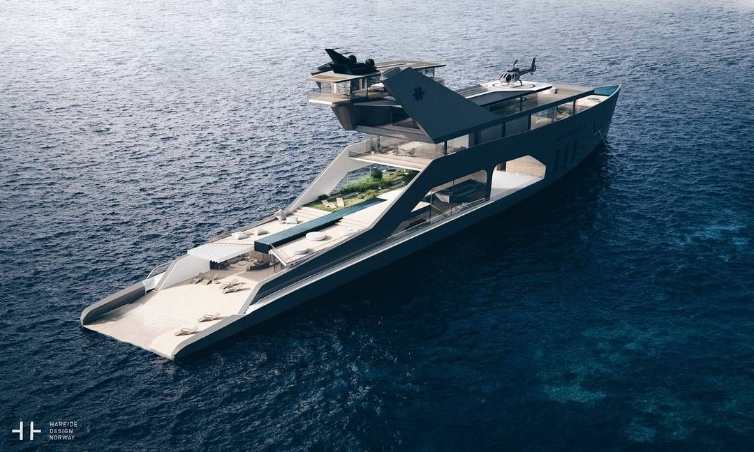 The 108M Mega Yacht concept from Norways Hareide Design asks only that you appreciate premium eco-conscious methodology in your floating luxury water palace. Full story up on manofmany.com. Link in bio.