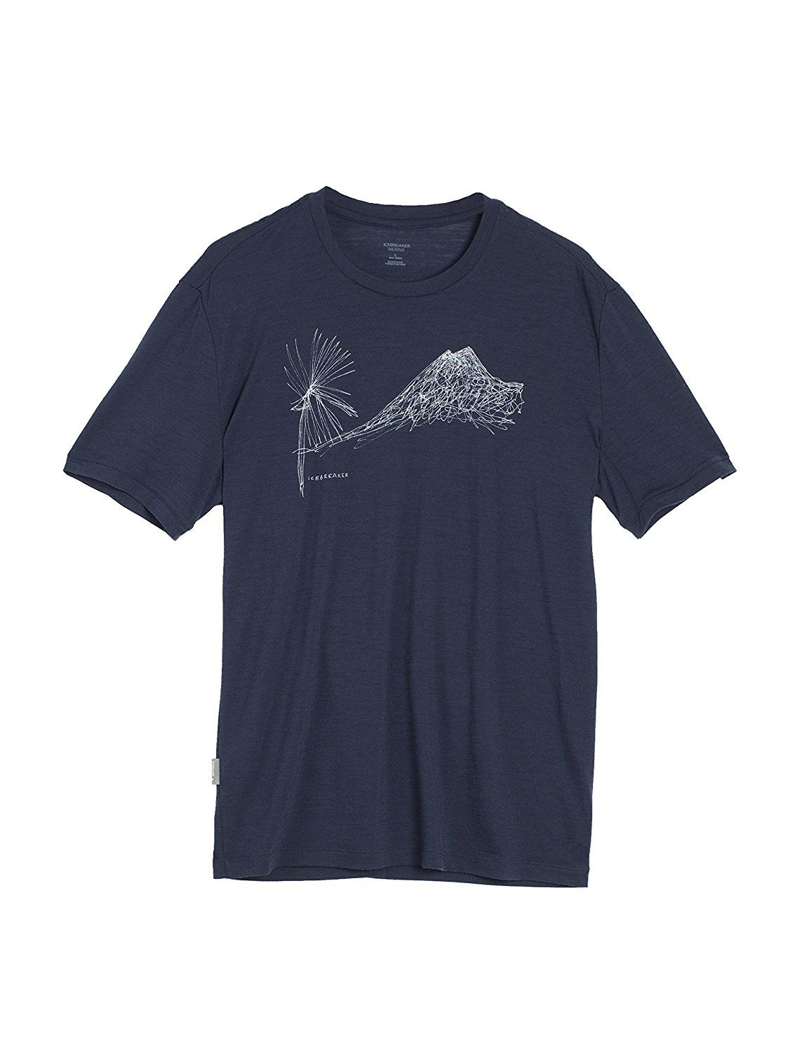 e1e972d7 Icebreaker Men's Tech Lite Short Sleeve Crewe Cabbage MTN Tee * Review more  details here : Hiking clothes