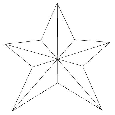 how to draw a nice star