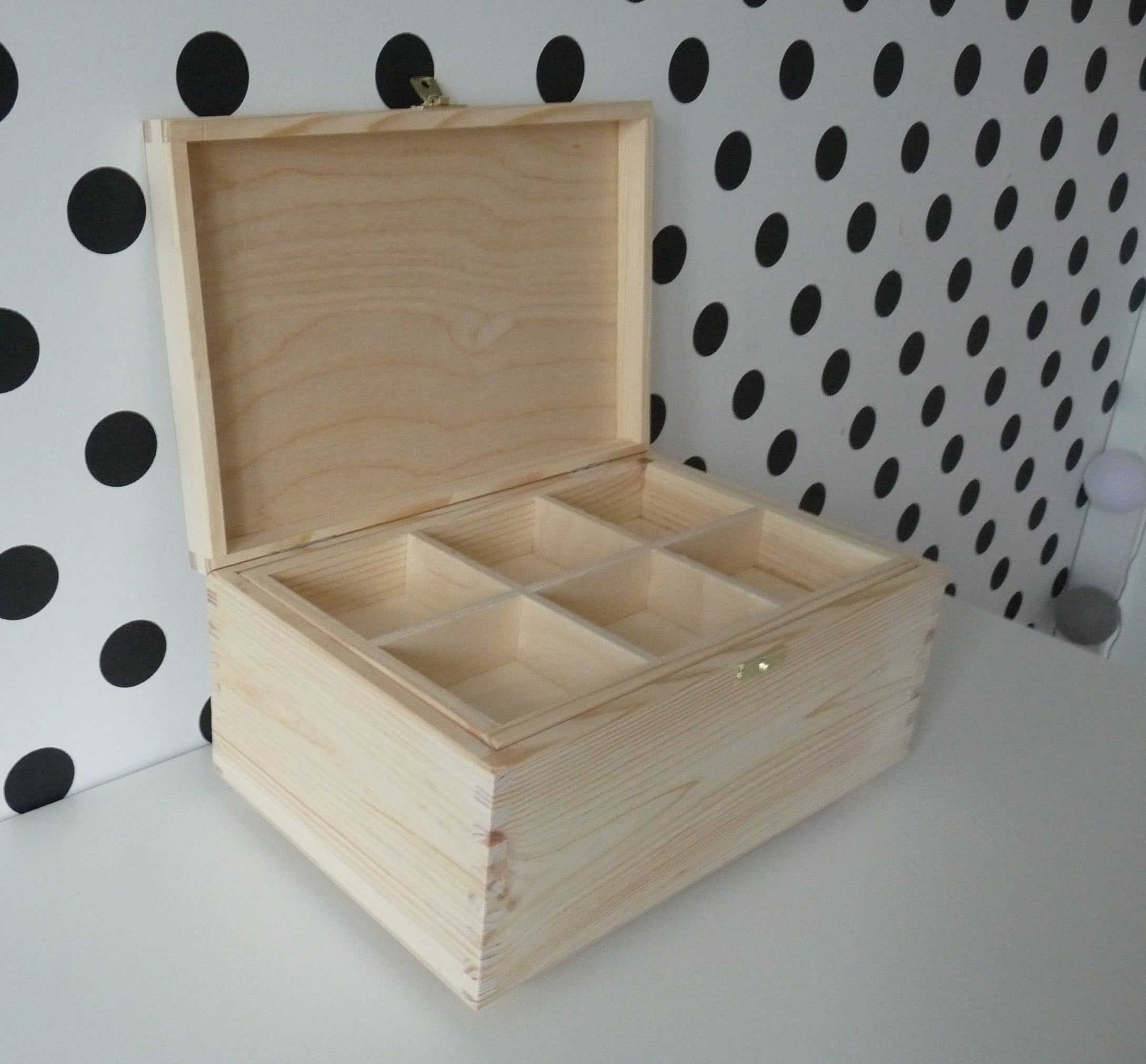 Wooden Treasure Chest Box With Two Trays Large Storage Box Unfinished Unpainted Plain Raw Wood Chest Box Craft Box In 2020 Wooden Organizer Wooden Boxes Storage Boxes