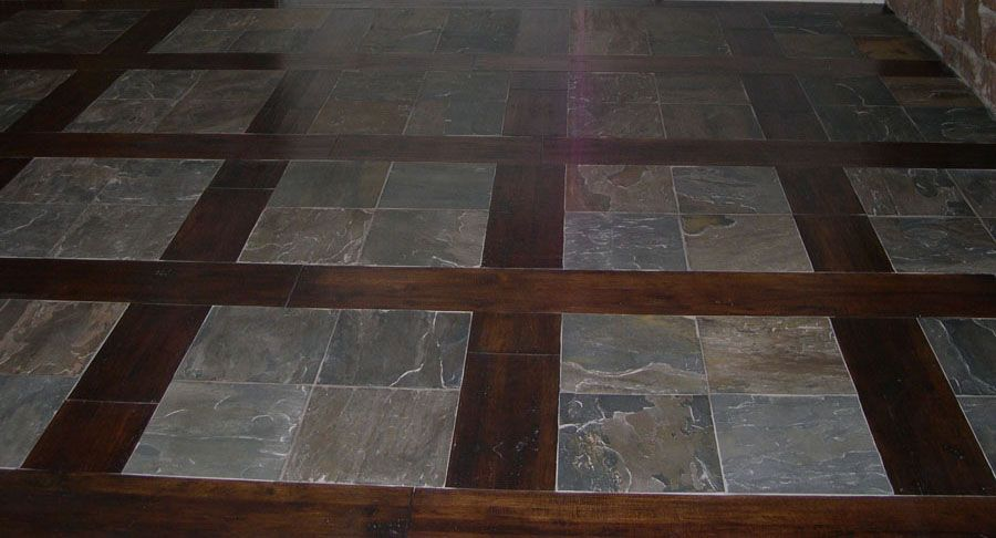 Hardwood floors with tile inlay affordable flooring for Inlaid wood floor designs