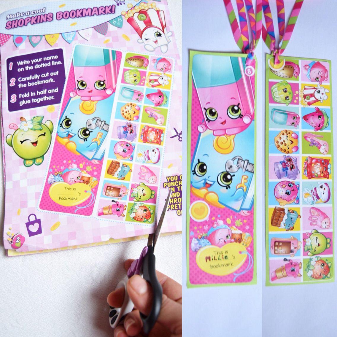 We made a Shopkins Bookmark. shopkinsworld Shopkins