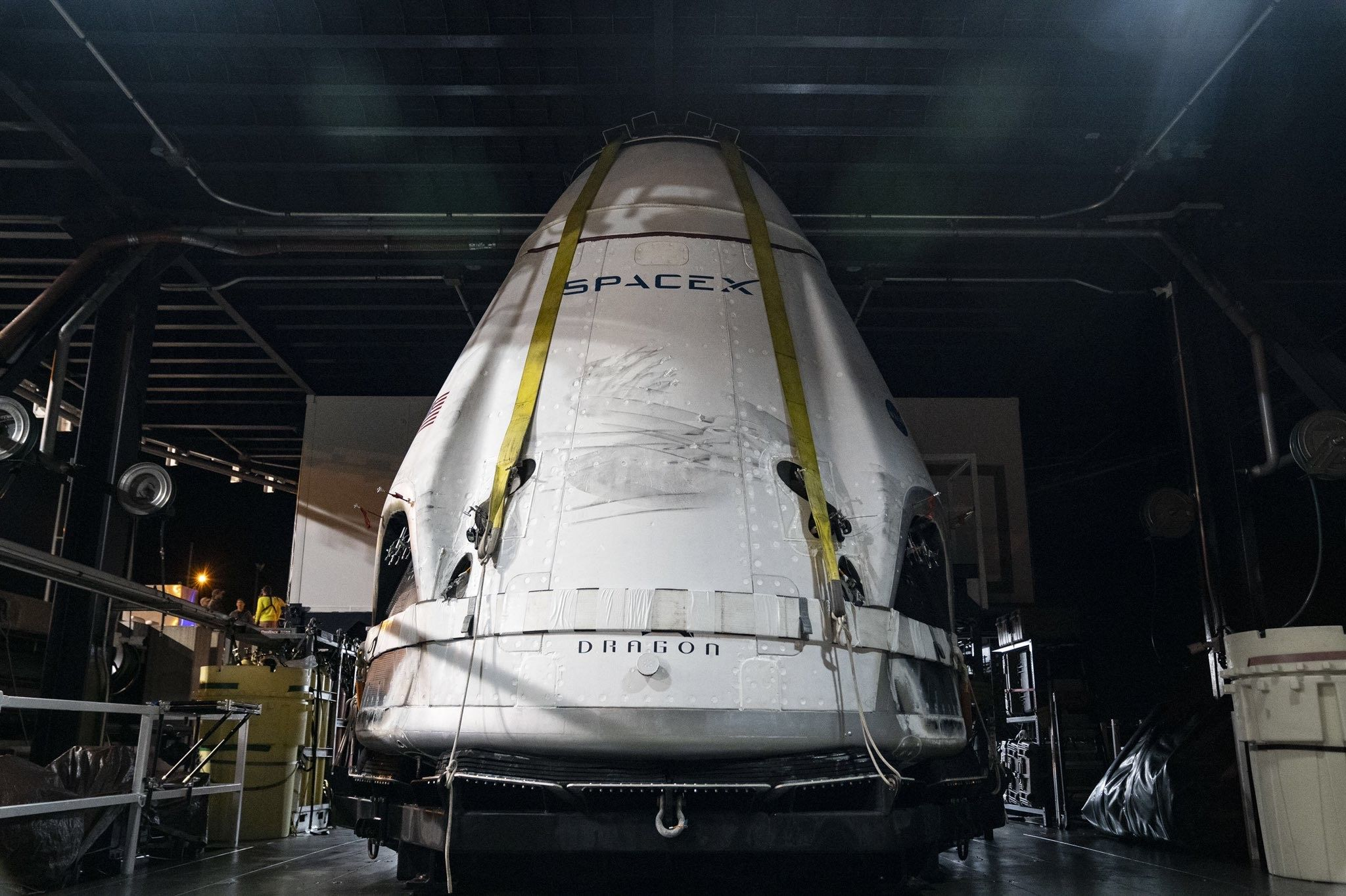 SpaceX's Crew Dragon returns to shore after successful