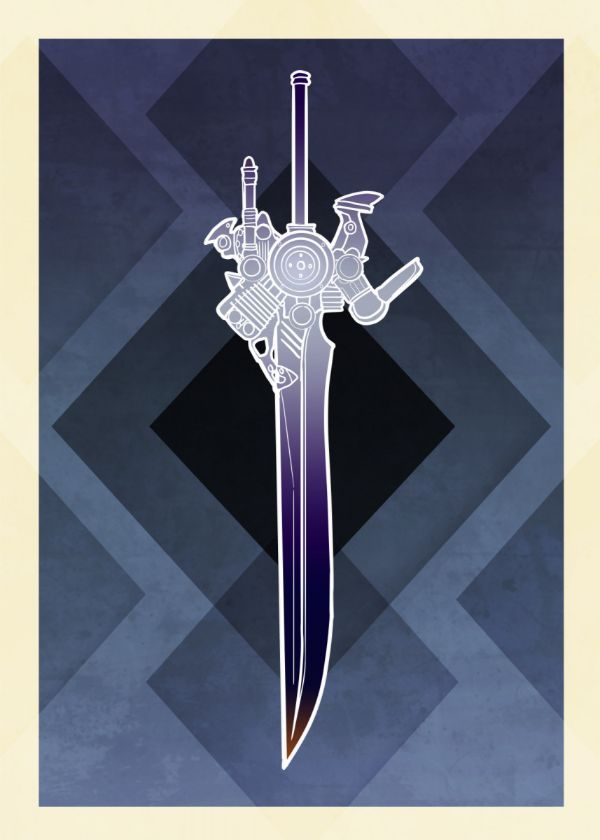 Final Fantasy Character Weapons Art Deco Displate Posters