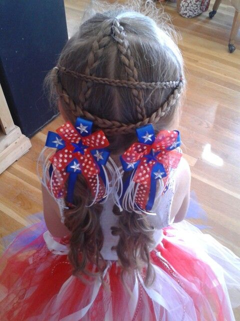Lexy's star braid for the 4th