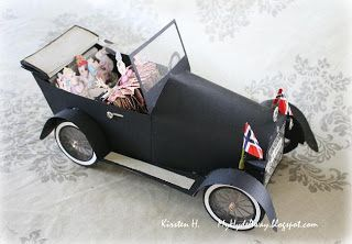 My Craft and Garden Tales: Template for a paper vintage car. All kinds of great stuff here.