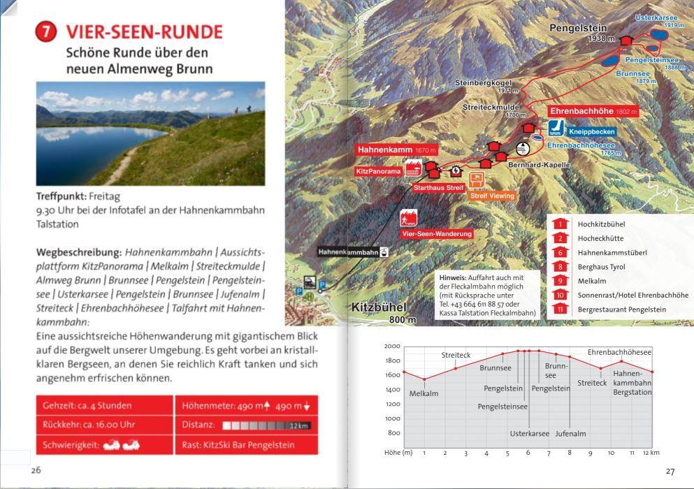 Die 4 Seen Wanderung Am Hahnenkamm Kitzbuhel Seen Wanderung Tourismus