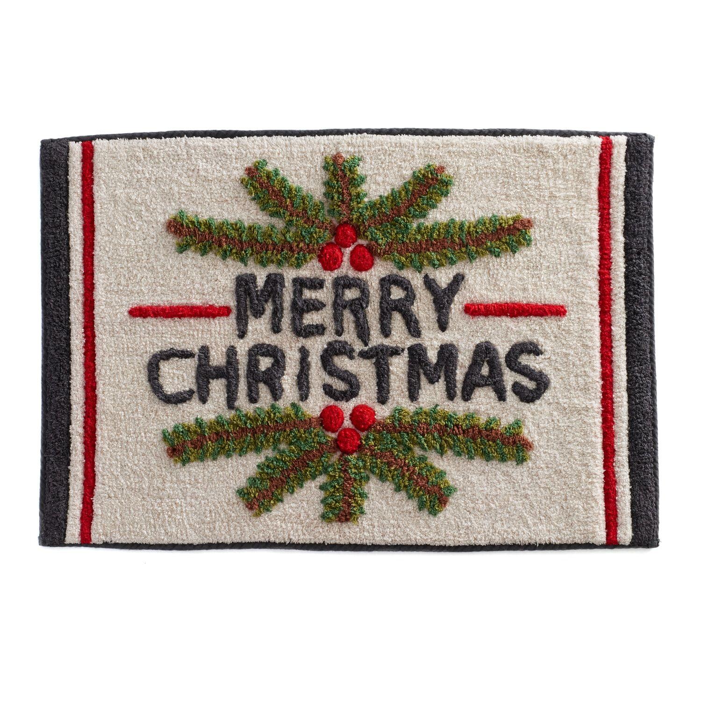 St Nicholas Square Ensembles Merry Christmas Bath Rug