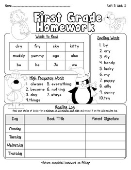 Pearson Reading Street Homework Cover Sheets Unit 3 ...
