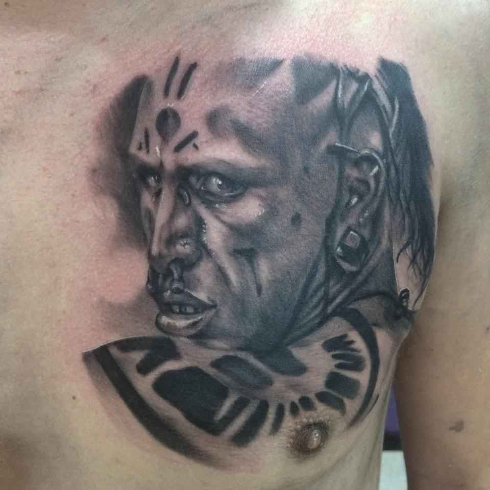 Apocalypto, portrait tattoo - YouTube  |Apocalypto Tattoo