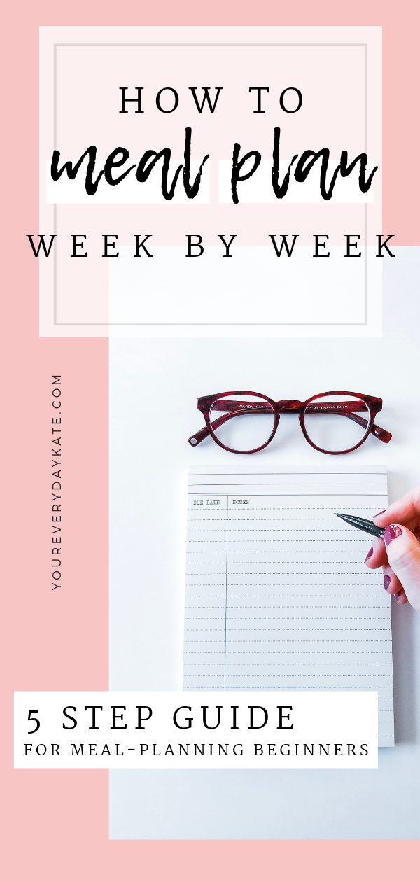 My 5 Step Week-By-Week Meal Planning Strategy