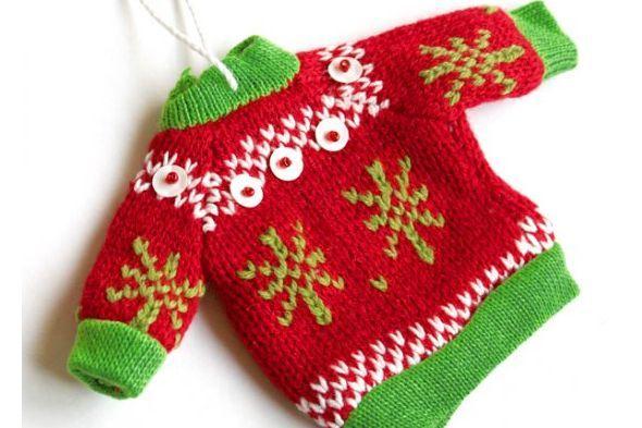 Ugly Sweater Ornaments ) Мини-вязание Pinterest Ornament