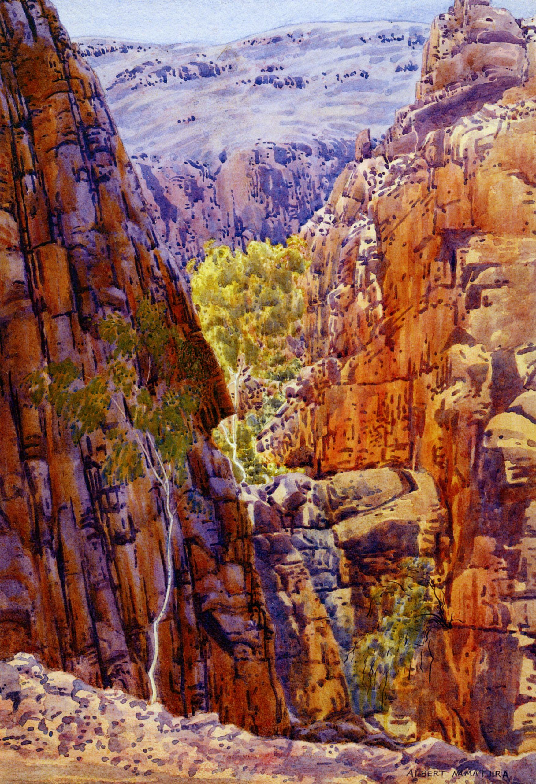 Albert namatjira talipate western macdonnell c 1945 53 for Australian mural artists
