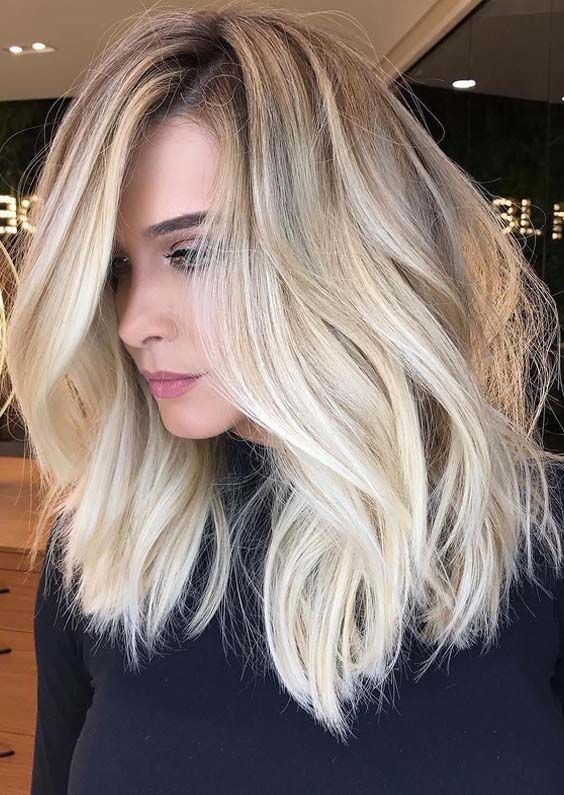 38 Obsessed Shadow Roots Blonde Hair Color Ideas For 2018 Blonde Hair With Roots Balayage Hair Blonde Hair Color