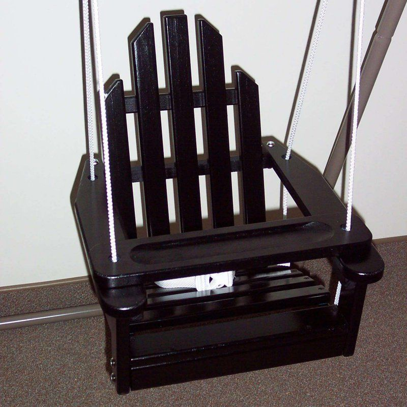 Prairie Leisure Kiddie Adirondack Chair Swing Black 64 Black