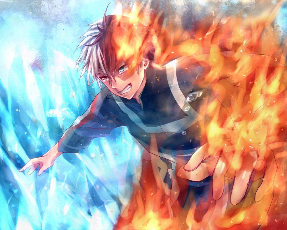 """僕のヒーローアカデミア """"俺""""の力 シューくりーむのイラスト Hero wallpaper, Boku"""