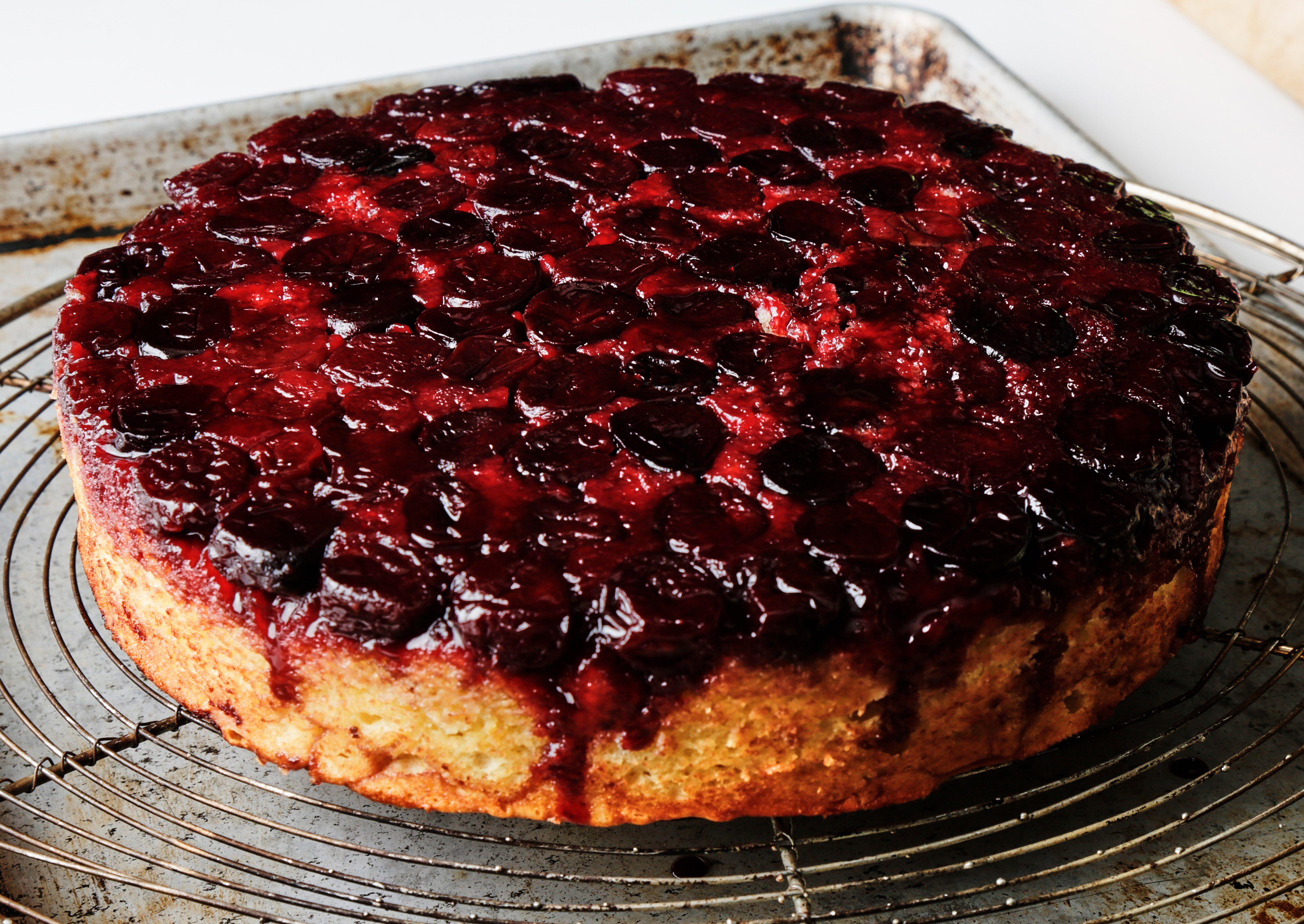 Easy One Bowl Upside Down Cake Recipe Cherry Cake Recipe Cherry Upside Down Cake Cherry Desserts
