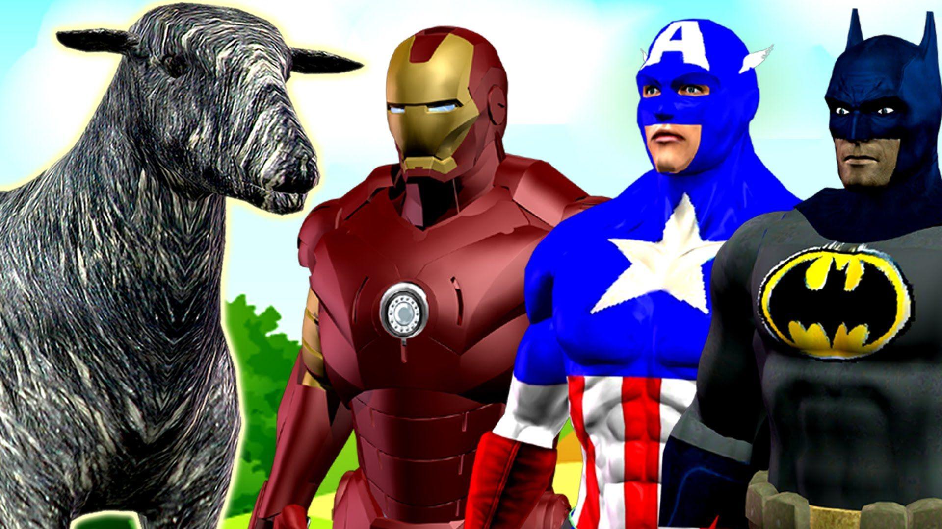 Ironman Captain America Cartoons for Children Nursery Rhymes | Baa Baa B...