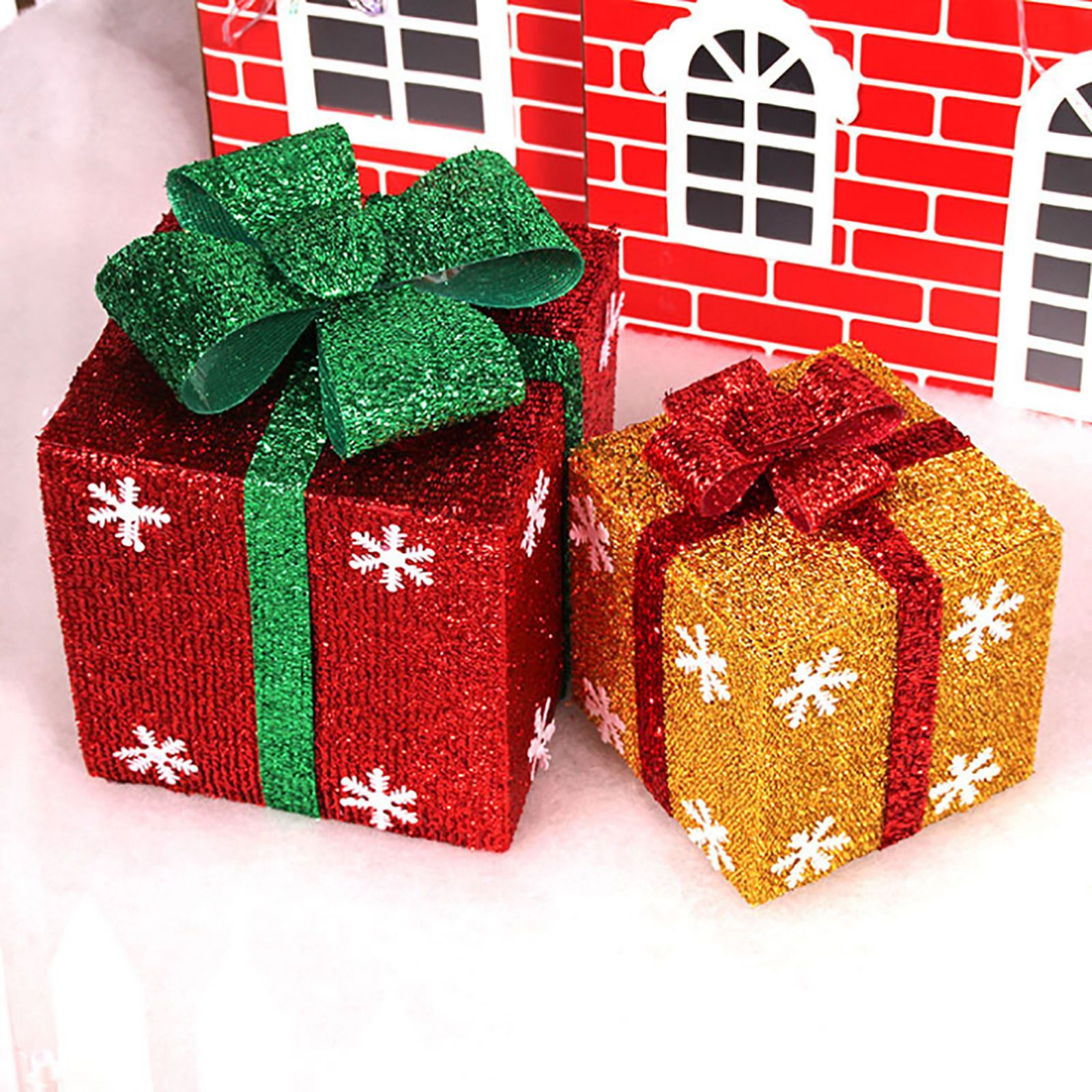 Gift Box Christmas Decorations 152025Cm Detachable Xmas Gift Boxes Christmas Present Packing