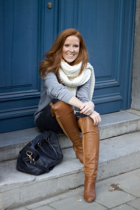 Boot leather redhead tall