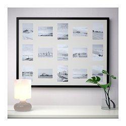 RIBBA Lijst voor 15 foto's, zwart - 60x80 cm - IKEA