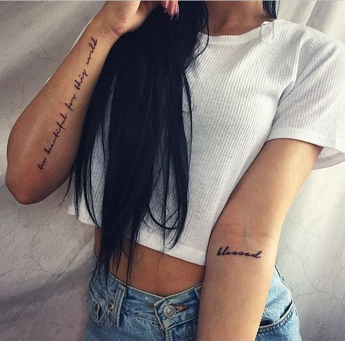 Shaybaby Via Tumblr Forearm Tattoo Women Inner Arm Tattoos Tattoos