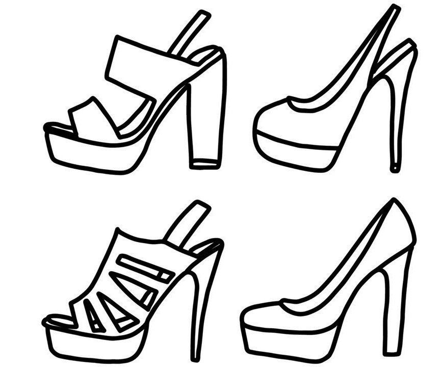 Models Of High Heels Shoes Coloring Pages Stress Coloring Coloring Pages Color