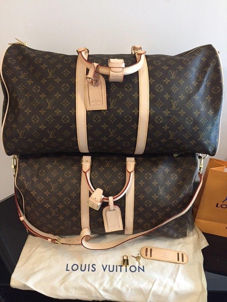 06746b2ce57 Louis Vuitton Bandouliere 55 & 60 Monogram canvas Keepall package ...
