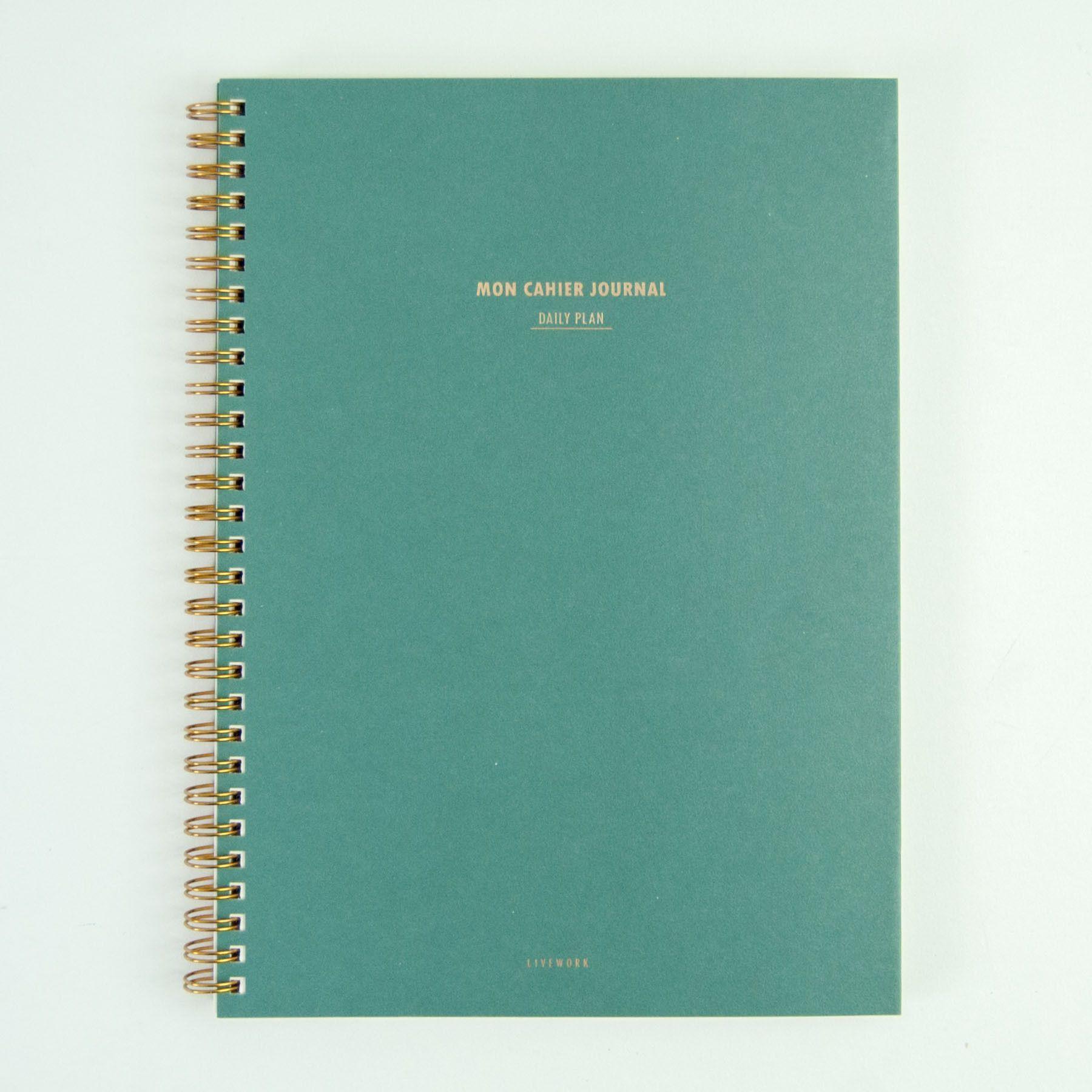 Mon Cahier Planner Moss Daily planner, Planner calendar