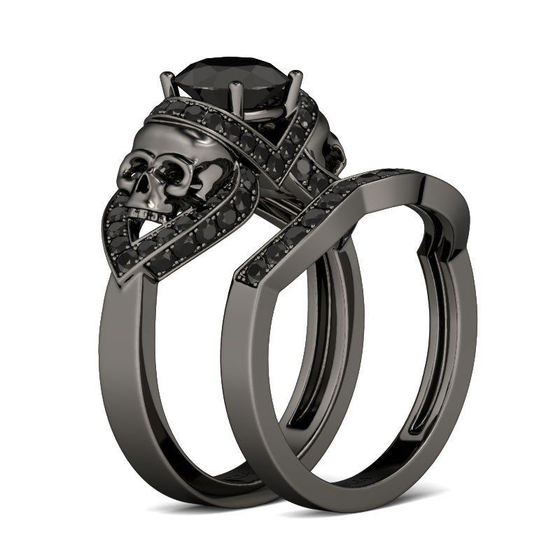 17 Best 1000 images about Gothic Wedding Rings on Pinterest Skull