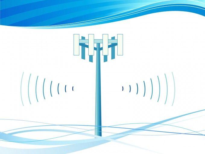 Wireless CellTower PowerPoint Backgrounds is a tech PPT template ...