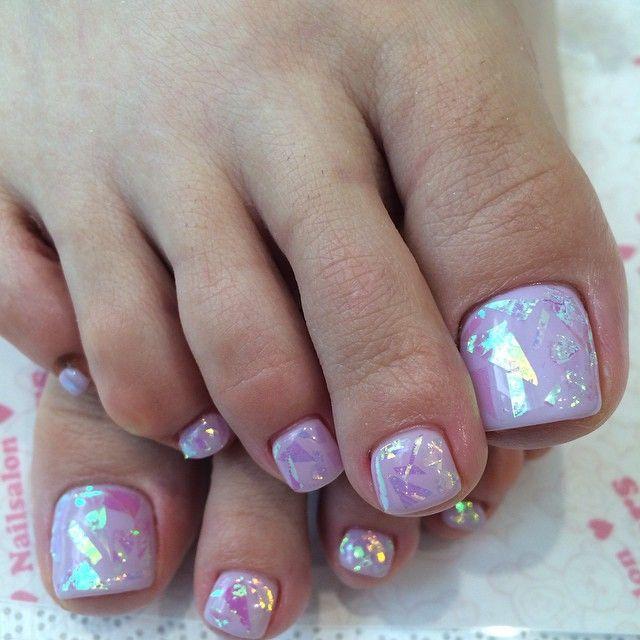 Irridescent Pedi Nail Design Nail Art Nail Salon Irvine Newport