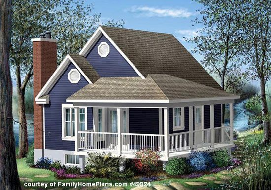 House Plans with Porches | Cottage style house plans, Cottage ...