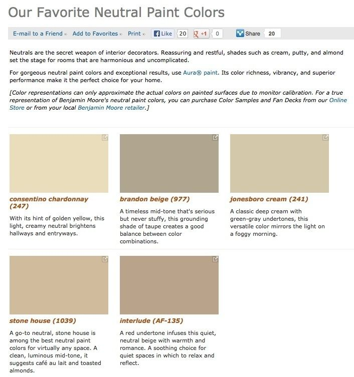 Will Need These Suggestions Soon. Favorite, Popular And Best Selling Shades  Of Neutral Paint Colors From Benjamin Moore.