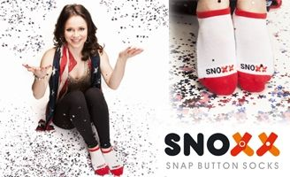 Snoxx Socks! They are comfortable athletic socks with a snap button that keeps pairs of socks together when not on your feet. Available in Youth, Men and Women's sizes. Choose your colors.