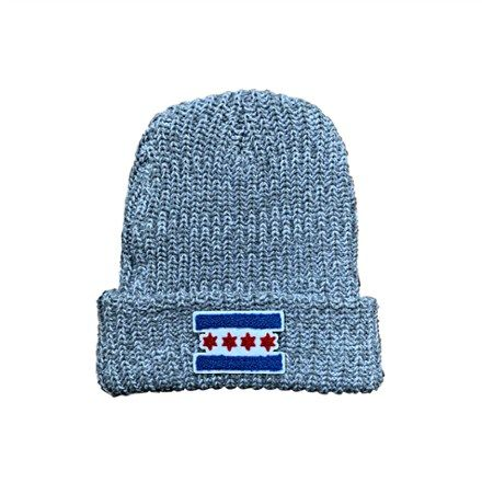 Chicago has a love affair with its flag  the banner combining 2 blue stripes with 4 red stars. Let your flag fly wherever you are in the Chitown Clothing Chicago Flag Patch winter hat.
