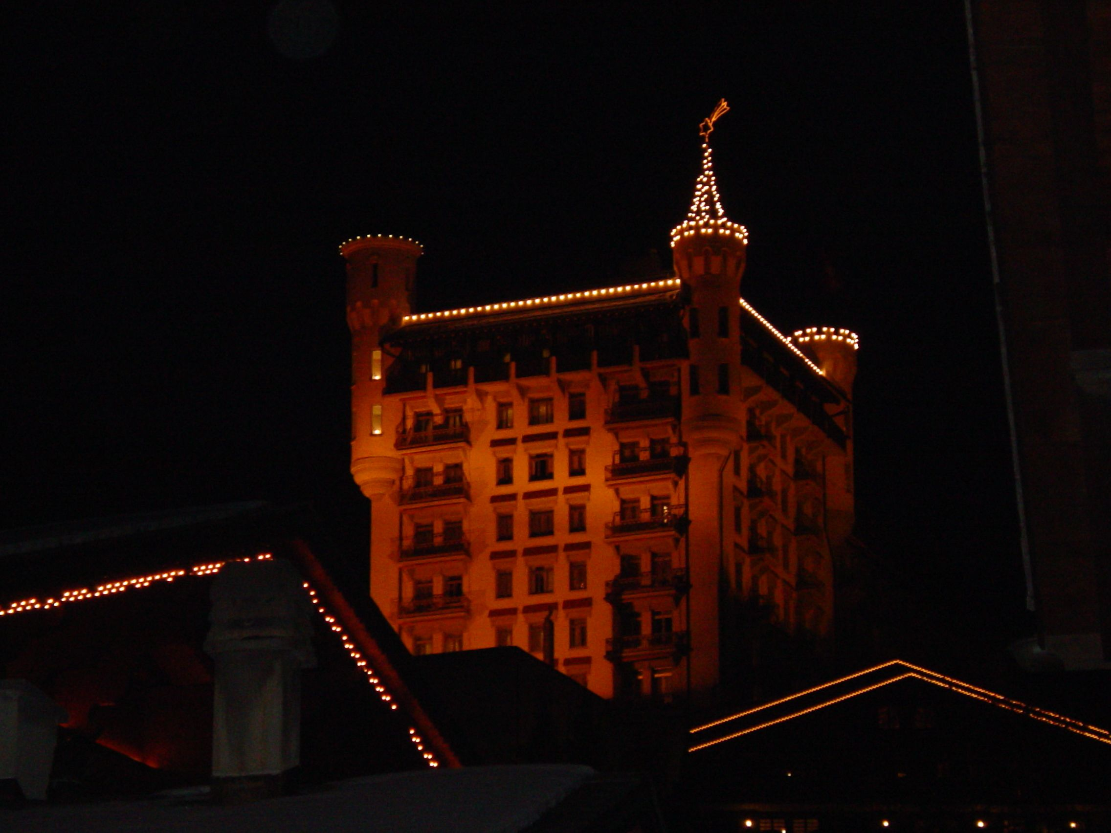 Gstaad Place at night time!