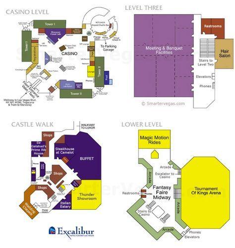 mapofexcaliburlasvegas Excalibur Casino Floor Map Las Vegas
