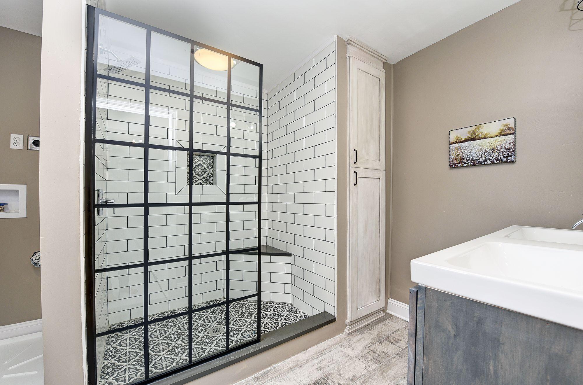 Modern Farmhouse Style Master Bathroom By Blankspace Llc