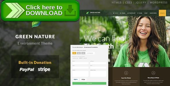 Free nulled Green Nature - Environmental / Non-Profit WP Theme download