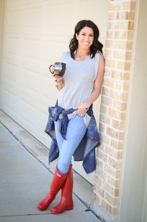 Hunter Boots Red Hunter Boots Hunter Boots Outfit Ideas | Style Sauce | Pinterest | Hunters ...