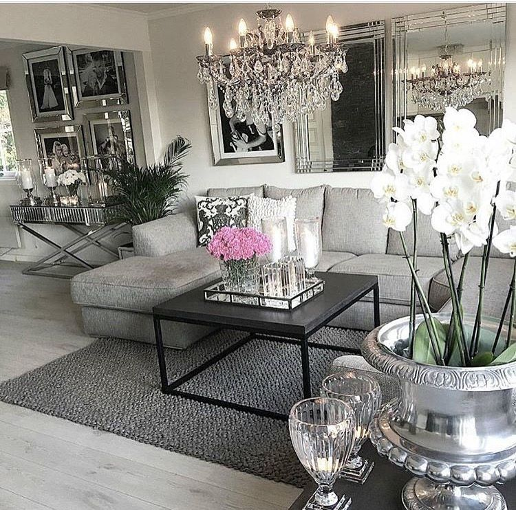 Grey Living Room Furniture Ideas Chic For Cozy Glam Decor: Love Everything About This Room!